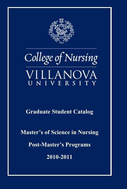College of Nursing Graduate Catalog - Villanova University