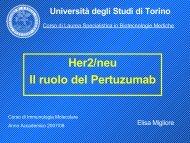 Her2/neu Il ruolo del Pertuzumab - Università degli Studi di Torino