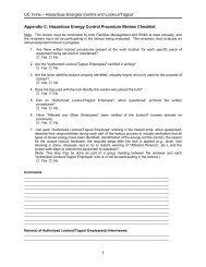 Appendix C: Hazardous Energy Control Procedure Review Checklist