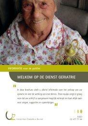 Welkom op de dienst geriatrie - UZ Brussel: Patientinfo