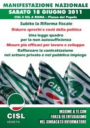 Volantino manifestazione - CISL Padova