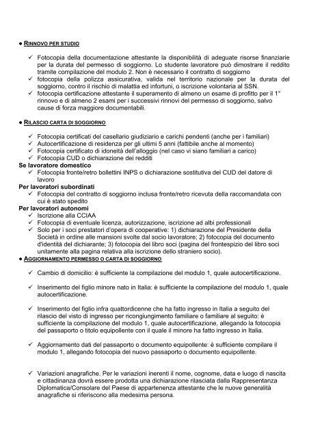 ○ RINNOVO PER STUDIO F