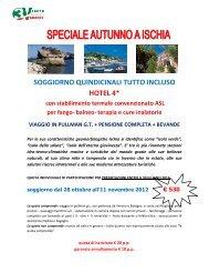 SOGGIORNO QUINDICINALI TUTTO INCLUSO HOTEL 4* con ... - Cisl