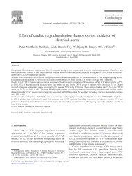 Effect of cardiac resynchronization therapy on the incidence ... - Cardio