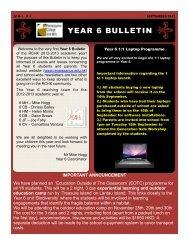 Year 6 Bulletin #1 - Renaissance College
