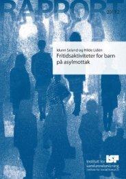 Fritidsaktiviteter for barn på asylmottak - UDI