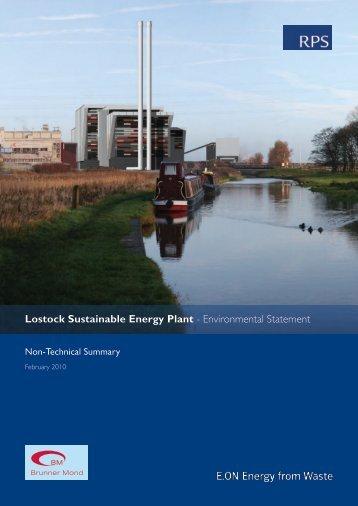 Lostock Sustainable Energy Plant - Environmental Statement - IEMA