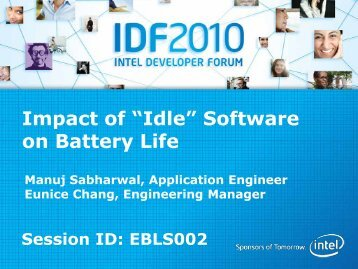 """Impact of """"Idle"""" Software on Battery Life - Intel"""