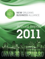 NOLABA — 2011 Annual Report - New Orleans Business Alliance