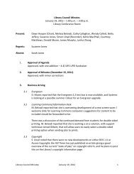 Library Council Minutes January 19, 2012 – 1:00 p.m. – 3:00 p.m. ...