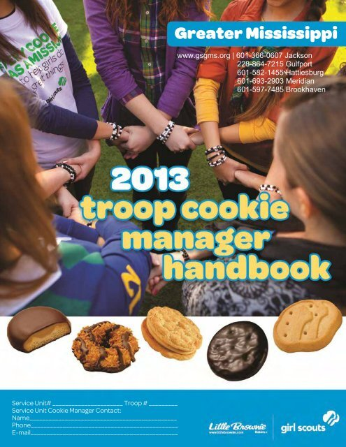 Troop Cookie Manual - Girl Scouts of Greater Mississippi