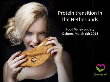 Protein transition in the Netherlands - Jeroen Willemsen - Food Valley