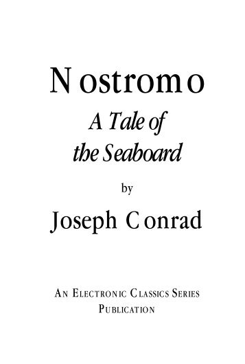 A Tale of the Seaboard Joseph Conrad - Penn State University