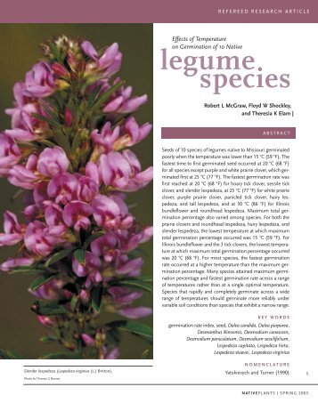 species legume - Native Plants Journal