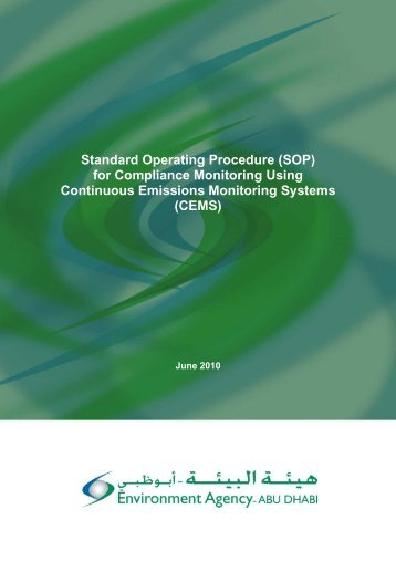 Standard Operating Procedure (SOP) for Compliance Monitoring ...