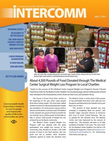 July 17, 2013 CHC Intercomm - The Medical Center