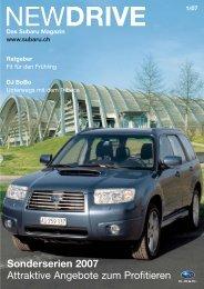 Sonderserien 2007 Attraktive Angebote zum Profitieren - Subaru
