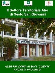 Il Settore Territoriale Aler di Sesto San Giovanni
