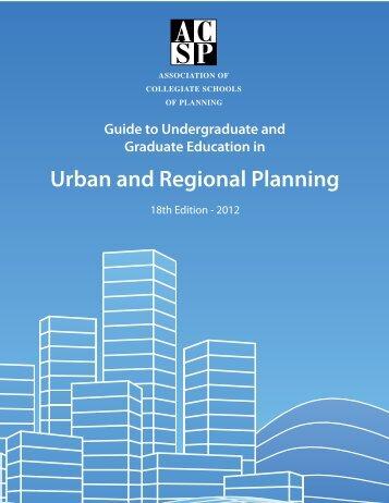 Urban and Regional Planning - Association of Collegiate Schools of ...