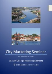 City Marketing Seminar - Sønderborg Erhvervs- og Turistcenter