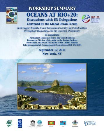 Summary of the Workshop on Oceans at Rio+20 - Global Ocean ...