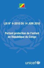 Portant protection de l'enfant en République du Congo LOI N° 4 ...