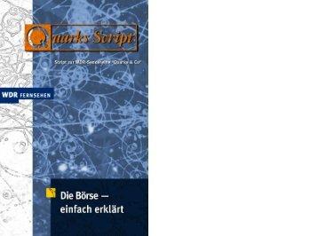 Die Börse - einfach erklärt - Wdr.de
