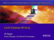 High Availability via Caché Database Mirroring - InterSystems Benelux