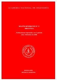 Boletín Informativo 11. Biblioteca. Julio-Diciembre de 2006