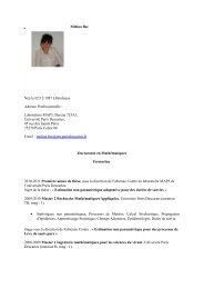 Mélina Bec Née le 02/12/1987 à Bordeaux Adresse Professionnelle ...