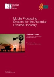 Mobile Processing Systems for the Australian Livestock Industry
