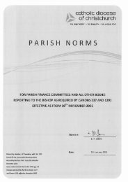 Parish Norms 2011.pdf - Catholic Diocese of Christchurch