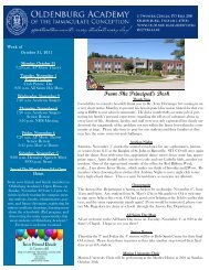 October 31 - Oldenburg Academy