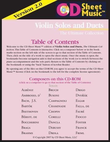 Version 2.0 Violin Solos and Duets - Subito Music Corporation
