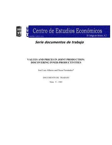 1 - Centro de Estudios Económicos