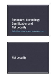 Persuasive technology, Gamification and Net ... - 46h-wiki - home