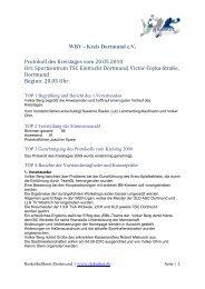 Protokoll Kreistag 2010 - Dobasket