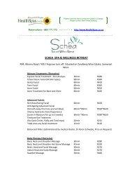 SCHEA SPA & WELLNESS RETREAT - Health Spas Guide