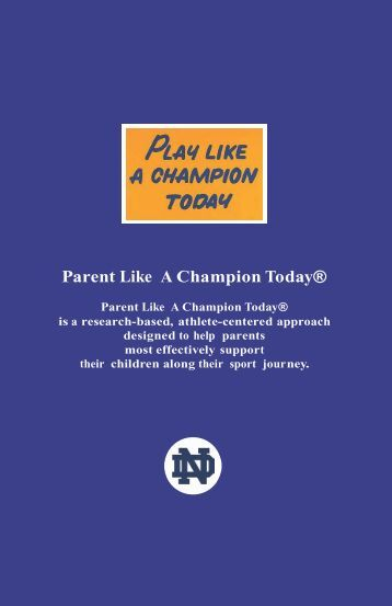 Parent Like A Champion Today® - Oldenburg Academy