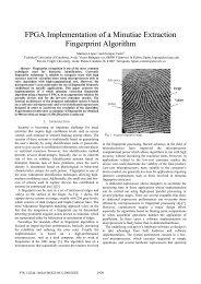 FPGA Implementation of a Minutiae Extraction Fingerprint Algorithm