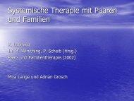 Systemische Therapie mit Paaren und Familien