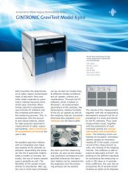 Brochure for Gravitest 6300 - ATI Corp