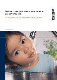Brochure - Alimentation en eau potable