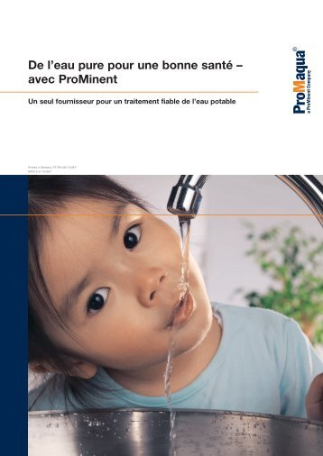 Brochure - Alimentation en eau potable