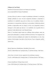 Poésie et philosophie du Tout-Monde - Revue Diversitaire