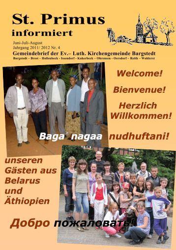 Gemeindebrief Juni - Juli - August 2012 - Kirchengemeinde Bargstedt