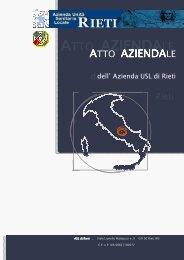 Atto Aziendale AUSL Rieti - Azienda USL Rieti