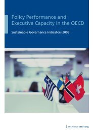 Policy Performance and Executive Capacity in the OECD - SGI