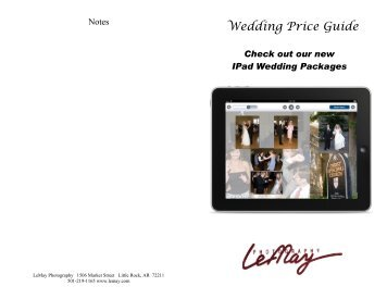 Click here for the Wedding Price Guide. - LeMay Photography
