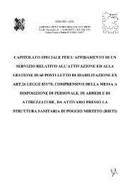 capitolato speciale per l'affidamento di un servizio relativo all ...